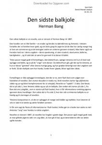 den sidste balkjole tekst pdf