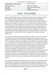 fsa essay om venskab