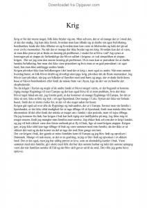 essay om krig fsa