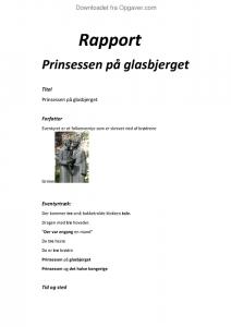 prinsessen på glasbjerget tekst