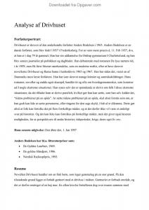 drivhuset analyse og fortolkning