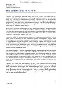 dean drummond essay