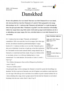 essay om danskhed studieportalen