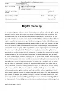 essay mobning på nettet