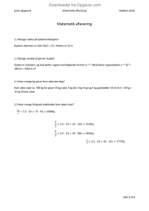randers regnskov matematik aflevering