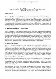 Martin luther king essay example