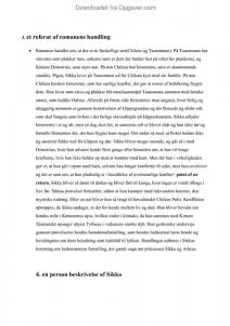 sikkas fortælling personkarakteristik