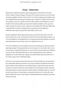 essay om uddannelse