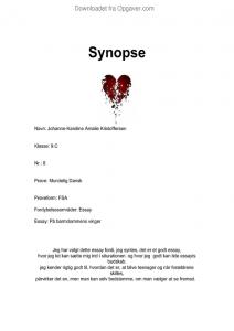 synopse - kærlighed - Dansk - Opgaver.com