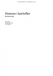 osmose i kartofler hypotese