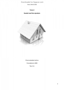 handel med fast ejendom jura opgaver com