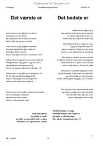 det værste og det bedste digt