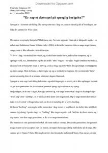 Essay om sprog og virkelighed