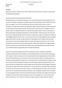 Analyse novelle veninder christensen camilla Udtræk fra