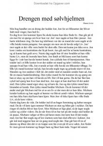 Drengen med slvhjelmen resume resume with handwritten cover letter