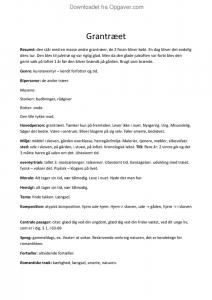 grantræet resume