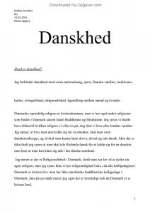 essay omkring danskhed