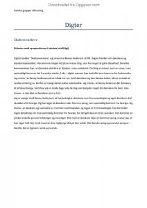 skabssvenskere analyse og fortolkning