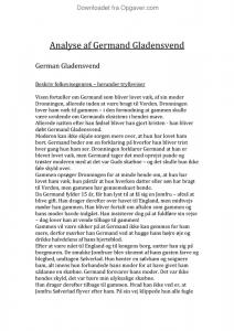 resume af germand gladensvend