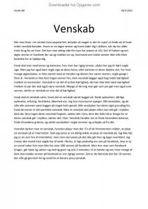 Venskab - Essay til Ungdomssitet.dk