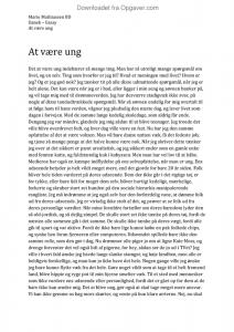 essay om ungdom