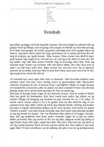 dansk stil essay venskab