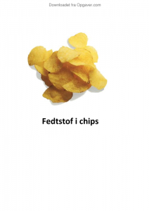 fedt i chips kemi