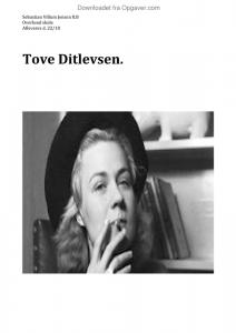 Tove Ditlevsen - Dansk - Opgaver.com