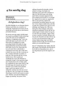 4. en særlig dag - Dansk - Opgaver.com