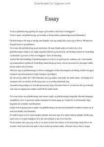 engelsk essay konklusion eksempel