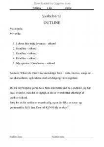hvordan laver man en engelsk synopsis